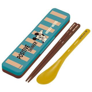 ミッキーマウス(ミッキーマウス)の箸スプーン セット ミッキー  (弁当用品)