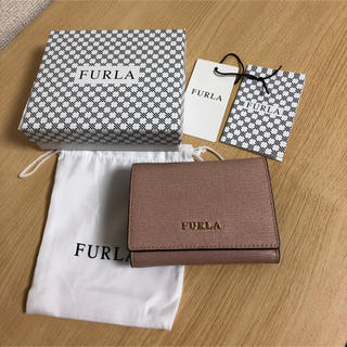 フルラ(Furla)のフルラ FURLA  三つ折り財布 ピンクベージュ(折り財布)