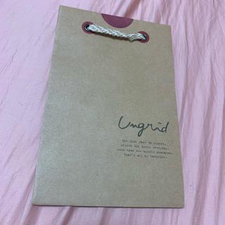 アングリッド(Ungrid)のUngrid ショップ袋(ショップ袋)
