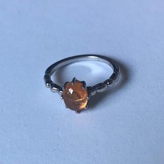 オレンジガーネット シルバーリング パワーストーン 天然石(リング(指輪))