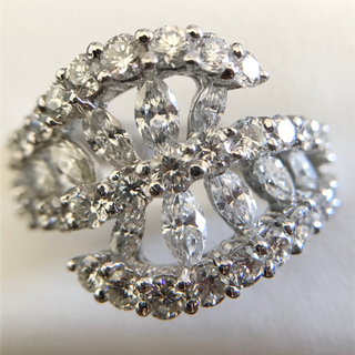 k18 WG 2.25ct ダイヤモンドリング(リング(指輪))