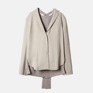 ルシェルブルー(LE CIEL BLEU)のIRENEのバックニットジャケット(ニット/セーター)