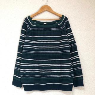 ジーユー(GU)の● ジーユー大きいサイズ マルチボーダーニット セーター XLサイズ●(ニット/セーター)