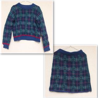 ダブルクローゼット(w closet)の♡ check knit setup ♡(セット/コーデ)