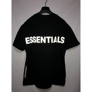 FOG ESSENTIALS 19AW リフレクティブ Tシャツ 黒x黒  S(Tシャツ/カットソー(半袖/袖なし))