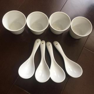ムジルシリョウヒン(MUJI (無印良品))のたち吉★レンゲと湯のみ セット(カトラリー/箸)