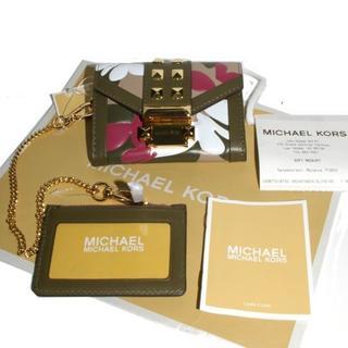 Michael Kors - 値下新品マイケルコース32S9GWHC1Yレザースタッズカードケース付二折財布