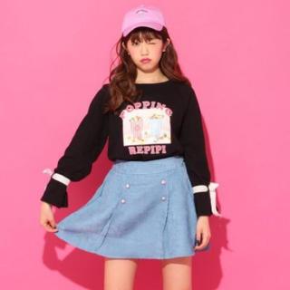 レピピアルマリオ(repipi armario)のrepipiarmarioトレーナースカートセット♡130140女の子ピンクラテ(ニット)
