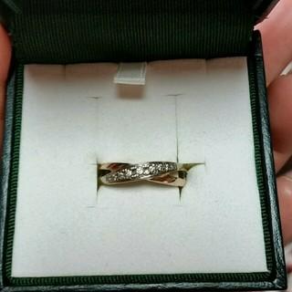 k10金ホワイトゴールドコンビダイヤリング(リング(指輪))
