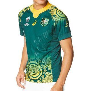 アシックス(asics)のラグビーオーストラリア代表アウェイユニ RWC2019 M 未開封 他サイト品切(ラグビー)