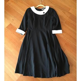 ブラックフォーマル 新品(ミディアムドレス)