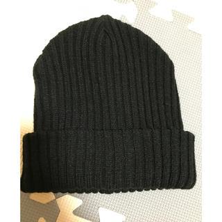 ムルーア(MURUA)のMURUA ムルーア ニット帽 ブラック エモダ マウジー スライ アングリッド(ニット帽/ビーニー)