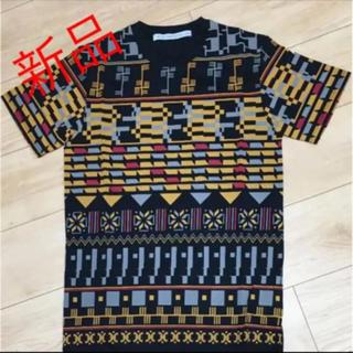 ジョンローレンスサリバン(JOHN LAWRENCE SULLIVAN)の新品   総柄Tシャツ(Tシャツ(半袖/袖なし))