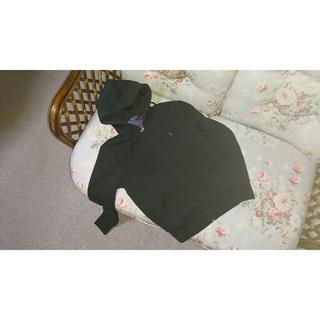 ラルフローレン(Ralph Lauren)の新品☆ラルフローレン 裏起毛 ジップアップパーカー  US S 黒(パーカー)