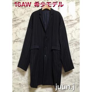ウーヨンミ(WOO YOUNG MI)の【16AW】【美品】juun.j Cocoon Pinstriped Coat(チェスターコート)