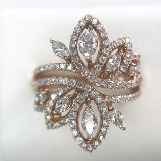 ピンクゴールド ダイヤモンド リング(リング(指輪))