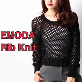 エモダ(EMODA)の【新品】EMODA リブニット(ニット/セーター)
