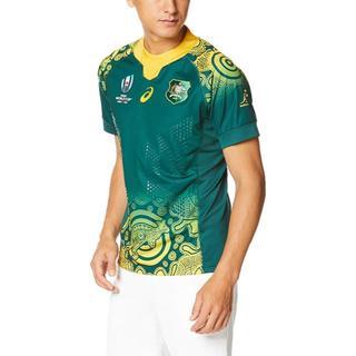 アシックス(asics)のラグビーオーストラリア代表アウェイユニ RWC2019 L 未開封 他サイト品切(ラグビー)
