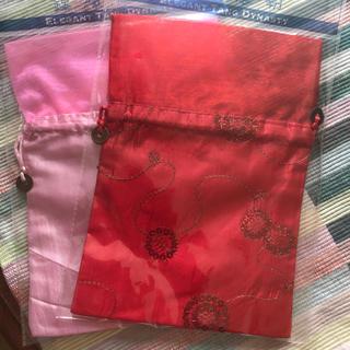 巾着   2枚  香港みやげ(日用品/生活雑貨)