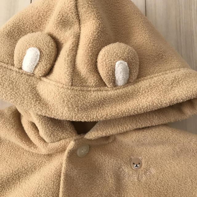 COMME CA ISM(コムサイズム)のくまちゃん ポンチョ ケープ キッズ/ベビー/マタニティのベビー服(~85cm)(その他)の商品写真