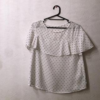 ジーユー(GU)のGU ドット柄ブラウス(シャツ/ブラウス(半袖/袖なし))