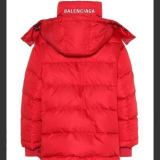 バレンシアガ(Balenciaga)のBALENCIAGAPufferjacketダウンジャケット赤36(ダウンジャケット)