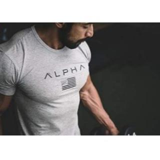 SHANLIANG メンズ トレーニングウェア Tシャツ ストレッチ 半袖(Tシャツ/カットソー(半袖/袖なし))