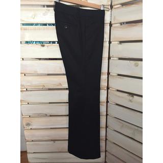 スーツカンパニー(THE SUIT COMPANY)のスーツカンパニー  パンツ 細ストライプ 黒 ブラック(スーツ)