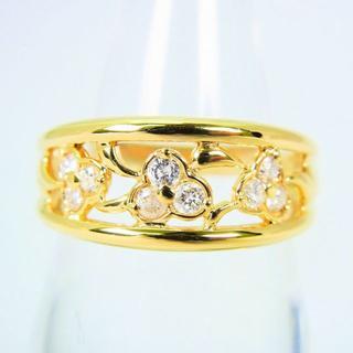 K18 ダイヤモンド リング 14号 [g86-13](リング(指輪))