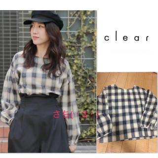 クリア(clear)のclear♡チェック♡長袖♡カットソー♡トップス(カットソー(長袖/七分))