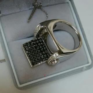 ダイヤ、2.11ct  リング、ホワイト&ブラック(リング(指輪))