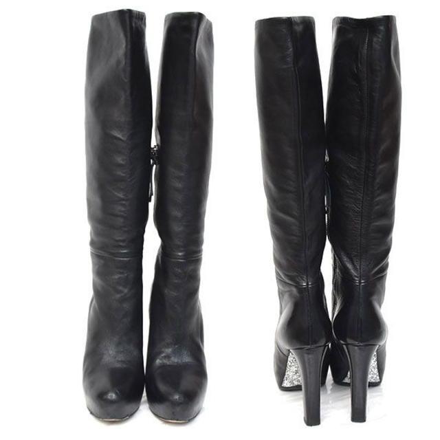 miumiu(ミュウミュウ)のミュウミュウ グリッターソール ロングブーツ 36(約23cm) レディースの靴/シューズ(ブーツ)の商品写真