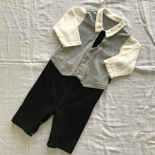 コムサイズム(COMME CA ISM)のコムサイズム 長袖 カバーオール 60-70cm(カバーオール)