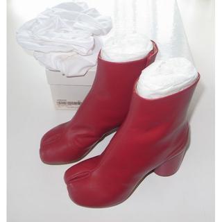 マルタンマルジェラ(Maison Martin Margiela)のマルジェラ red 足袋ブーツ tabi 35 18AW(ブーツ)