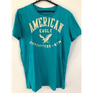 アメリカンイーグル(American Eagle)のAmerican Eagle Tシャツ ターコイズブルー XSサイズ(Tシャツ/カットソー(半袖/袖なし))