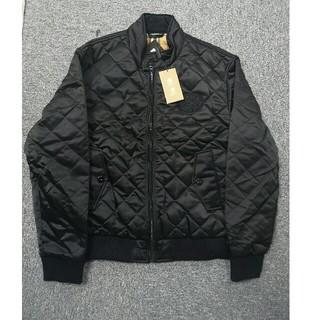 BURBERRY - バーバリー ジャケット 綿入れ 黒 ロゴ メンズ