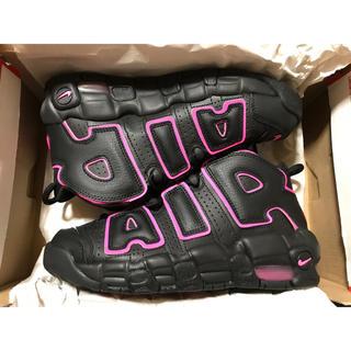 ナイキ(NIKE)の新品 24.0cm ピンク ブラック ナイキ エアモアアップテンポ モアテン 黒(スニーカー)