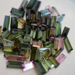 73.65ct 特売 天然 トルマリン 長方形 ルース 裸石 電気石(リング(指輪))
