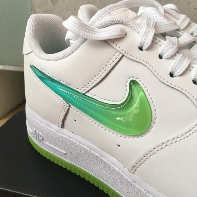 NIKE SNEAKERS AIR FORCE 1 /'07 PRM 2 WHITE//VOLT HYPER JADE AT4143-100