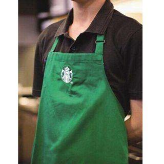 スターバックスコーヒー(Starbucks Coffee)のスターバックス コーヒー 緑 エプロン 新品 mako39様専用(その他)