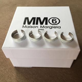 マルタンマルジェラ(Maison Martin Margiela)のL新品 マルジェラ MM6 4連リング シルバー (リング(指輪))