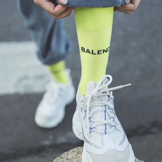 バレンシアガ(Balenciaga)のロゴ☆キャンディーカラーソックス 3色(ソックス)