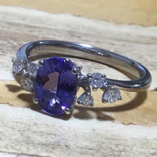 素敵✨1.46ct❗️タンザナイト&ダイヤモンド リング 指輪 約17号(リング(指輪))