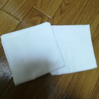 ムジルシリョウヒン(MUJI (無印良品))の白い無地のハンカチ2枚(ハンカチ)