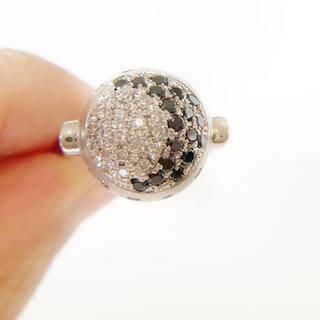 【未使用】中宝研鑑定書付きPt900ブラックダイヤモンド0.5ct×ダイヤリング(リング(指輪))