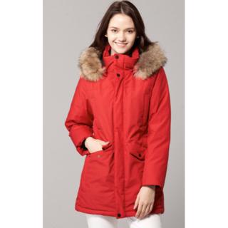 女性の2019新しい本物の毛皮の襟レディースロングダウンジャケット| HJ-19(タンクトップ)