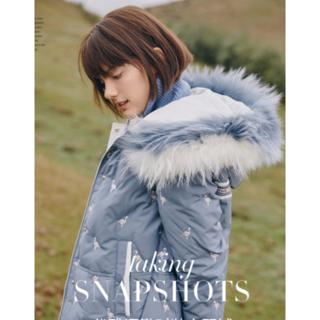 冬の新しいダチョウ柄刺繍ショートアライグマの毛皮の襟厚ダウンジャケット(タンクトップ)