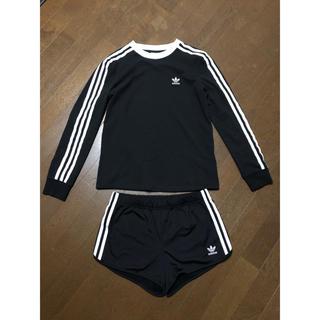 アディダス(adidas)のアディダス オリジナルス スリーストライプ ロングtシャツ&ショートパンツ (Tシャツ(長袖/七分))