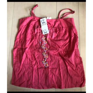 ロキシー(Roxy)のROXY ロキシー 新品 未使用 タグ付き キャミソール 刺繍 ピンク リゾート(キャミソール)