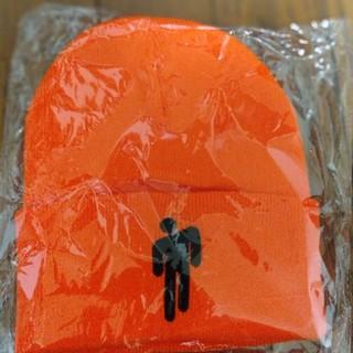 ビリーアイリッシュニット帽オレンジおまけ付き